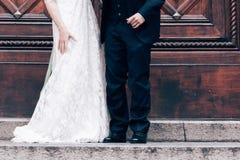 Apenas pares casados Fotografía de archivo libre de regalías
