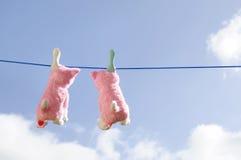 Apenas pendurando para fora? para secar! Foto de Stock Royalty Free