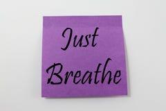 Apenas respire Foto de archivo libre de regalías