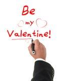 ¡Apenas sea mi tarjeta del día de San Valentín! Fotografía de archivo