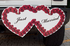 Apenas sinal casado Imagens de Stock Royalty Free