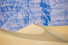 Apenas - solidão - vida do deserto - montanhas no fundo imagens de stock royalty free