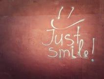 Apenas sonrisa Fotos de archivo libres de regalías