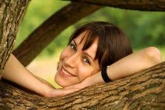 Apenas sonrisa Foto de archivo libre de regalías