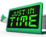 Apenas a tiempo medios del reloj no demasiado tarde Fotografía de archivo libre de regalías