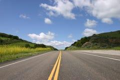 Apenas uma estrada do bom sentimento Fotografia de Stock