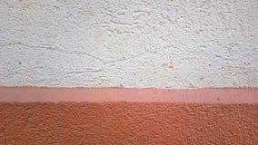 Apenas uma parede simples em 2 cores Fotos de Stock