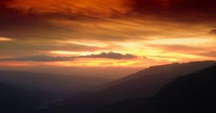 Apenas una puesta del sol Fotos de archivo libres de regalías