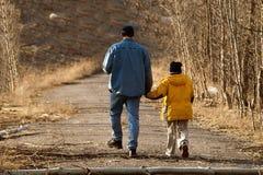 Apenas yo y papá Foto de archivo libre de regalías