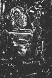 Apene la vieja textura aherrumbrada del metal ilustración del vector