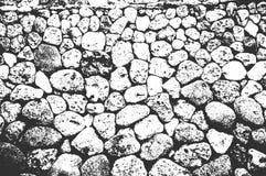 Apene las piedras de la playa de la costa del mar o del océano, textura de los guijarros ilustración del vector
