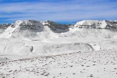 Apennine冬天风景 免版税库存照片