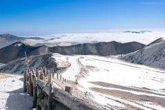 Apennine冬天风景 库存图片