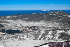 Apennine冬天风景 免版税图库摄影