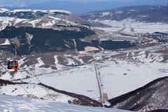 Apennine冬天风景 免版税库存图片