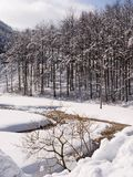 Apennine-Berge, Italien im Winter Stockfotos