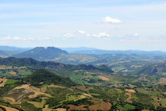 Apennine mountains and hills San Marino Stock Images