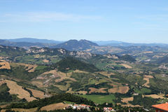 Apennine mountains San Marino Stock Images