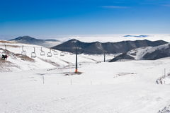 Apennine winter landscape Royalty Free Stock Image