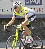 Apennines Cycling Race 2010. Maxim Belkov during Apennines cycling race 2010. Date of the photo: April, 25 2010 Stock Photography
