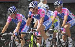 Apennines Cycling Race 2010. Lampre Farnese Vini team group during Apennines cycling race 2010. Date of the photo: April, 25 2010 Stock Photo