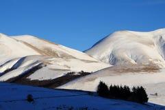 Apennines en invierno Imagen de archivo libre de regalías