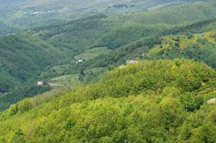 Apennines ligure Fotografia Stock