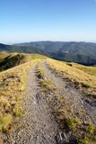 Apennines mountain landscape with dirt road Stock Image
