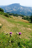 Apennines valley at Emilia Romagna Royalty Free Stock Photos