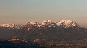 Apenzell Alps wschód słońca obraz stock