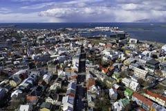 Aperçu aérien de Reykjavik du centre photo stock