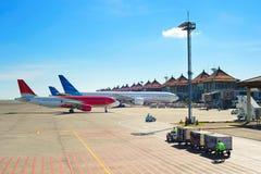 Aperçu d'aéroport Images libres de droits