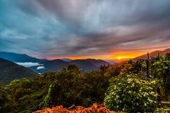Aperçu de coucher du soleil Image stock