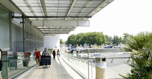 Aperçu de l'aéroport de Dubrovnik Photographie stock libre de droits