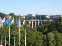 Aperçu de la ville de la colline au Luxembourg images libres de droits