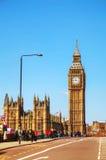 Aperçu de Londres avec Elizabeth Tower Image libre de droits