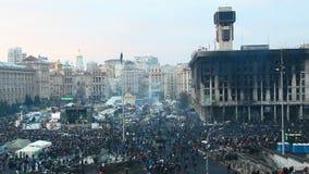 Aperçu de Maidan après la révolution Images stock