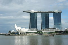 Aperçu de Marina Bay Sands Photographie stock