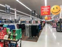 Aperçu de plancher de magasin de Walmart image libre de droits