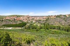 Aperçu de Sepulveda, dans la province de Ségovie, l'Espagne Photos stock