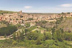 Aperçu de Sepulveda, dans la province de Ségovie, l'Espagne Images stock