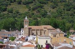 Aperçu de village d'Almonaster Photo stock