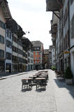 Aperçu des rues de ville des sièges sociaux de danikem du nuc Photographie stock libre de droits