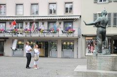 Aperçu des rues de ville des sièges sociaux de danikem du nuc Photographie stock