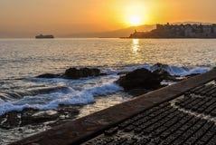 Aperçu du mémorial en expédition de mille dans le dei Mille, secteur de Quarto de mer de Gênes Photo libre de droits