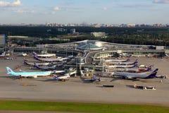 Aperçu du terminal D de l'aéroport international de Sheremetyevo Image stock