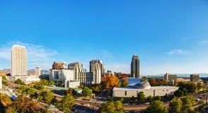 Aperçu panoramique de Salt Lake City photographie stock libre de droits