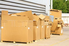 Aper boxes scrap used in manufacturing Royalty Free Stock Photography