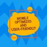 Aperfeiçoamento móvel do texto da escrita da palavra e fácil de usar Conceito do negócio para serviços de Internet em linha da We ilustração stock