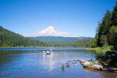 Aperfeiçoe o lugar para relaxar no Trillium do lago com vistas da capa da montagem Fotografia de Stock